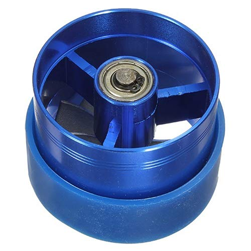 dljztrade Professional Universal Supercharger Turbine Turbo Fan Fuel Gas Saver Air Filter Intake Single(1set) Blue: