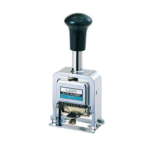 Numbering Machine 7 Wheels - Lion Pro-Line Heavy-Duty Automatic Numbering Machine, 7-Wheel, 1 Numbering Machine (C-77) by Lion