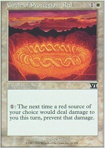 Magic: the Gathering - Circle of Protection: Red - Sixth Edition