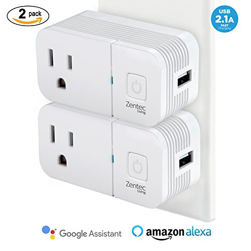 2 Pack Wireless Wifi Smart Plug Outlet With Built In USB Port (Large Image)