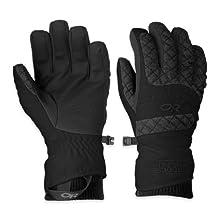 Outdoor Research Women's Riot Gloves, Black, Medium