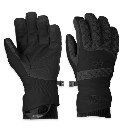 Outdoor Research Women's Riot Gloves, Black, (Riot Ski)