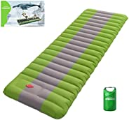 Overmont Extra 4.7in Thickness 27.5in Width Sleeping Pad Inflatable Camping Mat Ultimate Air Mattress Compact
