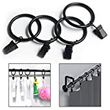 OFKP 20 Pcs Curtain Metal Clamps, Hanging Curtain Hook Clip Rings for Holding Heavy Curtains Rod Set and Drapes