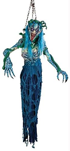 [MEDUSA HALLOWEEN PROP Snakehead Movie Haunted House Scary Decor Garden Creepy - FM63717] (Medusa Childs Halloween Costume)