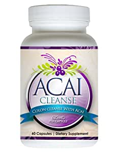 Acai Cleanse - 60 CAPSULES. Colon Cleanse, Fast Dieters Weight Loss Detox And Appetite Suppresent.