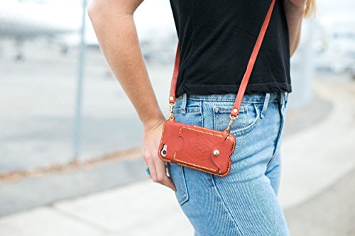 IPhone Crossbody, Sling Bag, Hipster, Cell Phone Purse, Small Purse, Cross Body Bag Wallet iphone 7 plus wallet case 02LS by PhonePurse