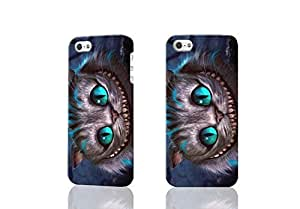 The Cheshire Cat 3D Rough Case Skin, fashion design image custom , durable hard 3D case cover for iPhone 5 5S , Case New Design By Codystore
