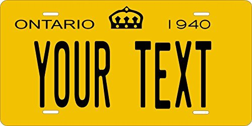 Canada 1940 Personalized Tag Vehicle Car Moped Bike Bicycle Motorcycle Auto License Plate (Ontario Car License Plate)
