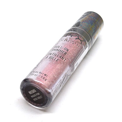 New Roll On Shimmer For Eyes, Face, Body Various Colors 0.05 oz / 1.5 g Beauty Yo + FREE EARRING (RES05 : NAUVE PINK)