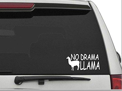 NO DRAMA LLAMA car wall window vinyl decal sticker funny meme
