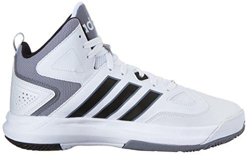 Adidas Neo Hommes Cloudfoam Thunder Mi Chaussure Blanc / Noir / Gris