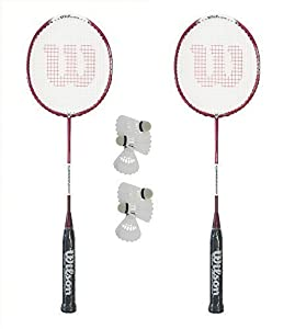 Wilson Carbon 1000 Badminton Schläger + 6 Carlton Shuttles x 2