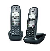 Gigaset AS 475 Duo Teléfono inalámbrico, Llamadas Entre Interior/interfono, Agenda Personalizable, Transferencia de Llamadas, Negro [Versión Importada]