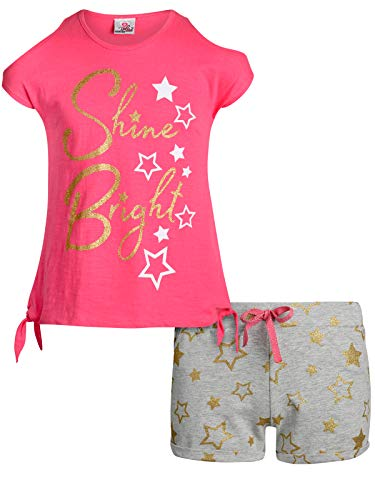 Real Love Girls 2-Piece French Terry Short Set, Pink Shine Bright, Size - Girls Terry Shorts