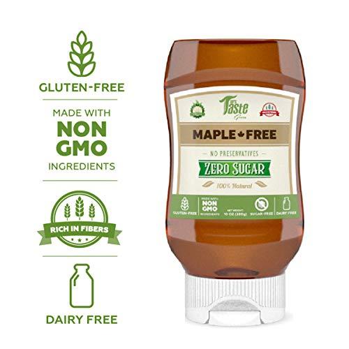Mrs Taste, Bee Free Vegan Honey, All Natural, Keto Honey, Keto Maple Syrup,  Zero Sugar, High Fiber, Sugar Free Honey and Maple Syrup, Gluten Free,