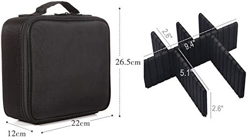 化粧品袋 女の子の女性のための防水旅行バッグ化粧ポーチウォッシュバッグ化粧品の場合、パターニングジッパーの気質のオーガナイザー収納袋 旅行化粧収納ボックス (Color : Black)