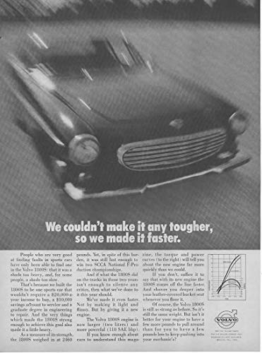 Not Coupe - Magazine Print Ad: 1969 Volvo 1800S 2 Door Sport Coupe,