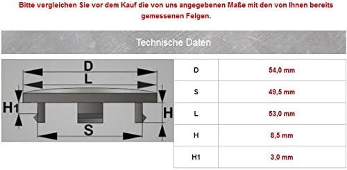 4x Nabenkappen 54 Mm 49 5 Mm Nabendeckel Universal Kappen 54 0 49 5 Mm Deckel Felgendeckel Auto