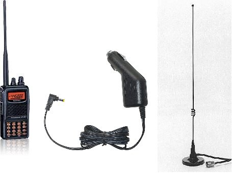 Yaesu FT-60R Handheld, SDD-13 Car Charger & Comet M-24S Mag Mount Antenna Bundle by Yaesu