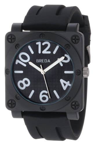 Breda Men's 8146-Black Matthew Oversized Square Bolted Case Sport Watch, Watch Central