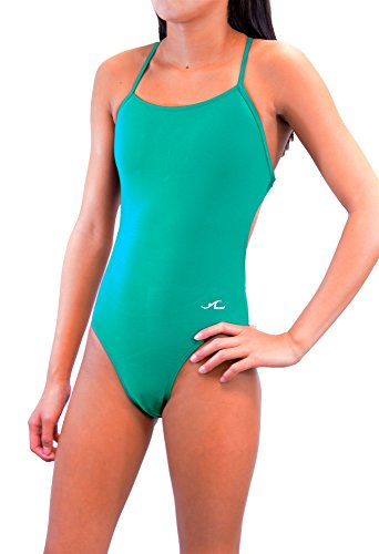 - Adoretex Xtra Life Lycra One Piece Tie-Back Swimsuit (FN028) - Teal - 30