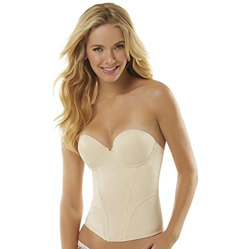 Jezebel Caress Seamless Bridal Bustier Style 32533, Nude, - Bustier Seamless Bridal