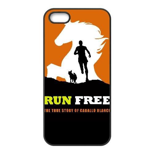 W8M98 Free Run The True Story de Caballo Blanco Haute Résolution Affiche D5X4KP coque iPhone 5 5s cellulaire cas de téléphone couvercle coque noire RT9WXE3NQ