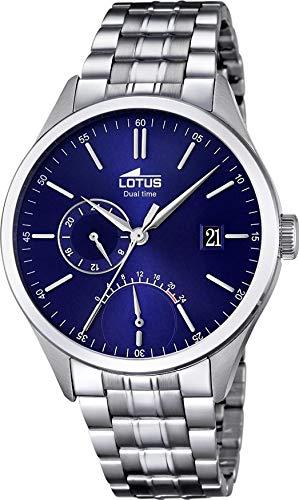 Lotus multifunction watch in stainless steel l18213/3