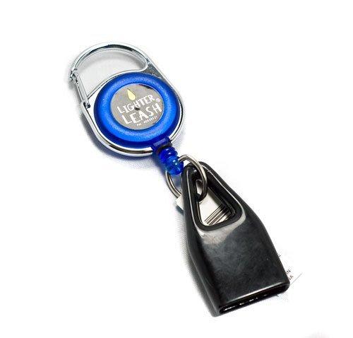 Premium Lighter Leash Retractable Keychain Clip (Blue)
