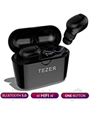 Wireless Earbuds TEZER X20 Bluetooth 5.0 True Wireless Earphones IPX5 Automatic Connection 36H Playtime Hi-Fi Stereo with Built-in Mic and Charging Case for Travelling and Exercise