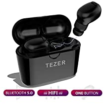 Upgraded 2019, Wireless Earbuds ,TEZER X20, Truely Wireless earphones, Bluetooth 5.0 Auto Pairing,36 Hour Cycle Play Time ,Deep Bass Stereo Sound, Support Binaural Call with CVC Noise Reduction, Sweatproof with Charging Case