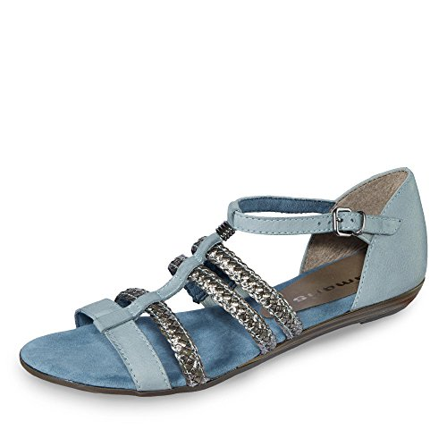 Sandales Ouvert Femme 28121 Tamaris Bleu Bout nHA6qUSwz