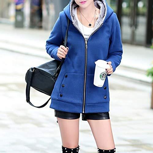 Capuchon D'hiver En Coton Capuche Lanlan Blue Femme À Doux Manteau Xxl Xxxl q5XFYgwOI