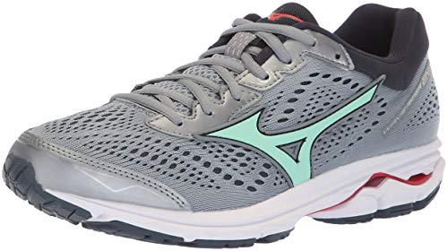 Price comparison product image Mizuno Women's Wave Rider 22 Running Shoe, Trade Winds/Teaberry, 9 B US