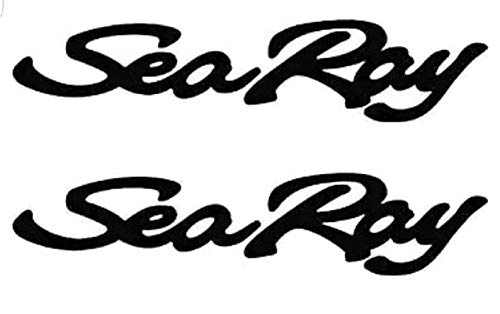 CELYCASY Pair of 4.5''x28'' Sea Ray White Boat Hull Vinyl Decals. Marine Grade and Your Choice of Color. by CELYCASY