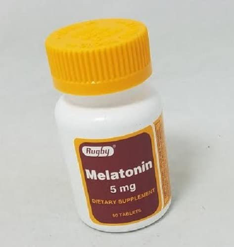 Amazon Com Rugby Melatonin 5mg 60 Tablets Health Personal Care