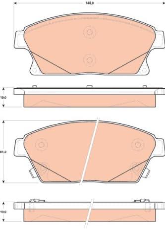 TRW TPC1467 Premium Ceramic Front Disc Brake Pad Set
