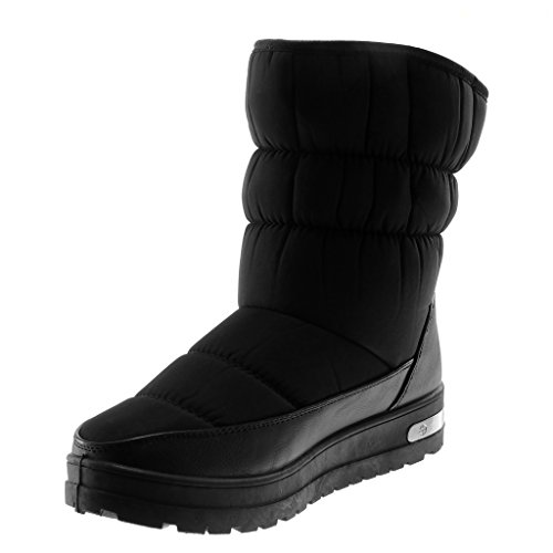 Boots Snow cm Fashion Block Quilted Boots 5 3 Women's Heel Shoes Angkorly High Black 7IqXBX