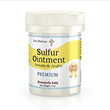 10% Sulfur Ointment - Acne & Skin Care - Go All Natural ! No PEG (Zero Polyethylene Glycol) by San Marcos