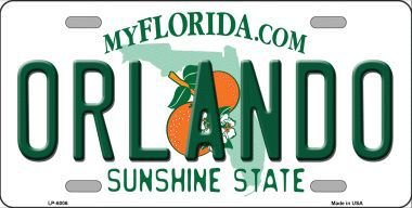 Smart Blonde LP-6006 Orlando Florida Novelty Metal License - Stores Florida Orlando