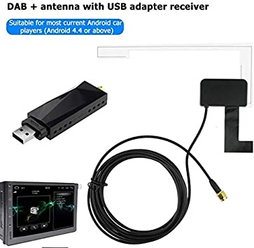 Calistouk Radio Digital para Coche Antena DAB Receptor Aéreo Caja ...