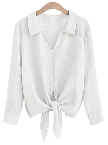 erdbeerloft - Camisas - Opaco - para mujer Weiß