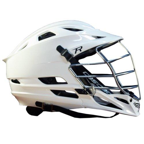 Cascade R White Lacrosse Helmet Chrome Tungsten Steel