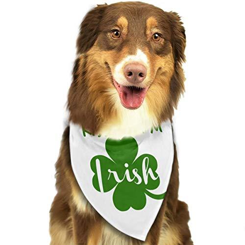 Pet Scarf Dog Bandana Bibs Triangle Head Scarfs Kiss Me I'm Irish Accessories for Cats Baby Puppy -