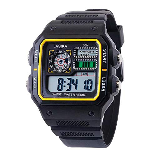(Pengy Sport Watch Multifunctional Sports and Leisure Watch Square Fashion Wild Electronic Watch)