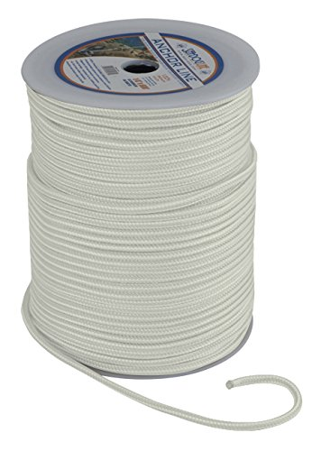 1//2 x 500 1//2 x 500/' Northern Wholesale Supply Inc Sea Dog 303112500WH Solid Braided Nylon Rope Spool Boating