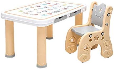 WCJ Juego de Mesa y Silla de plástico for Actividades for niños: 1 ...