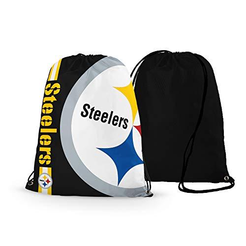 GF-sports store NFL Football Team Logo Drawstring Backpack Gym Bag - Pick Team (New England Patriots) (Pittsburgh Steelers)
