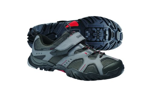 Shimano MTB Schuhe SH-MT43G Mountainbikeschuh grau-rot (Größe: 38)